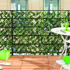 GREENLY fűzfa apácarács mű borostyán levelekkel (1mx2m) zöld