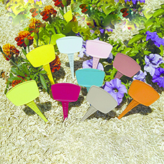 Label 15 cm-es, műanyag, vegyes színű leszúrható jelölőtábla növényhez, palántához (16 db) íves