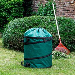 Többször használatos, merev aljú, lombgyűjtő zsák (175 Liter) zöld