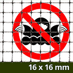Rácsos vakondháló - rács osztás: 16x16mm  (1x10m = 10m2) tekercs