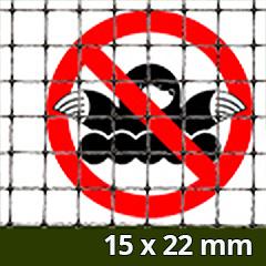 Rácsos vakondháló - rács osztás: 15x22mm  (1x100m = 100m2) tekercs