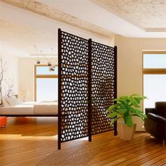 - Térelválasztó panel - dekorpanel Mosaic (100x200cm) barna