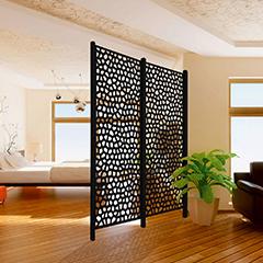 - Térelválasztó panel - dekorpanel Mosaic (100x200cm) szürke