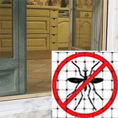 Szúnyog ellen: Mosquiplast RO-100 műanyag szúnyogháló (1 x 50 méter) fehér