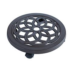 FLORA ROLL ALU kör alakú öntött alumínium virágalátét ( gurulós ) szürke