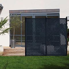 - Térelválasztó panel - dekorpanel Privat (100x200cm) antracit