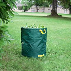 Többször használatos, füles, lombgyűjtő zsák (150 Liter) zöld