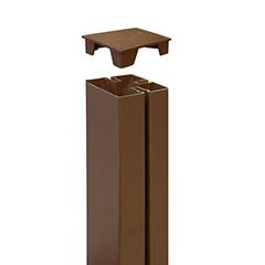 - Térelválasztó panel oszlophoz végzáró - Tap Alupost (2 darab) barna