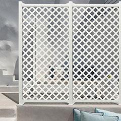 - Térelválasztó panel - dekorpanel Classic (100x200cm) fehér