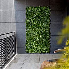 VERTICAL TROPIC zöldfal trópusi növényekkel (1mx1m) zöld