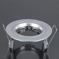 - Olcsó flat design spot lámpatest (kör), fix, metálszürke