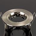 - Olcsó flat design spot lámpatest (kör), fix, szatén-nikkel