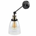 Lofty karos oldalfali lámpa (E27) fekete kar, kupolás bura