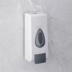 Falra szerelhető kézzel működtethető szappanadagoló (350 ml) fehér