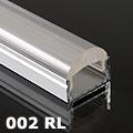 ALP-002RL Aluminium U profil ezüst - optikai lencsés (60°) burával