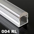 ALP-004RL Aluminium U profil ezüst - optikai lencsés (10°) burával