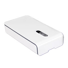 Multifunkciós doboz UVC lámpa, aromaterápia, vezeték nélküli töltő (fehér)