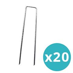 Műfű rögzítéséhez leszúrható fémkapocs (20 darab/csomag)