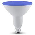 LED lámpa E27 (15W/30°) PAR38 - kék (IP65)