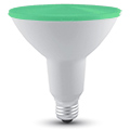 LED lámpa E27 (15Watt/30°) PAR 38 - zöld IP65