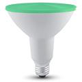 LED lámpa E27 (15W/30°) PAR38 - zöld (IP65)