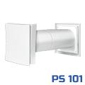 Passzív szellőztető, fali légbeeresztő (PS 101) négyzetes szell.