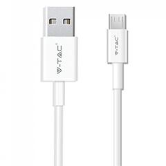 Pearl USB - Micro USB adatkábel, töltőkábel (1 méter) fehér - USB 2.0