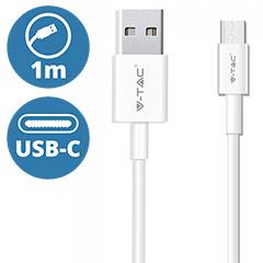 Pearl USB - USB-C adatkábel, töltőkábel (1 méter) fehér - USB 2.0