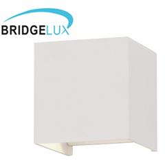 Pegasi kültéri lámpatest, fehér, négyzet (6W) meleg fehér