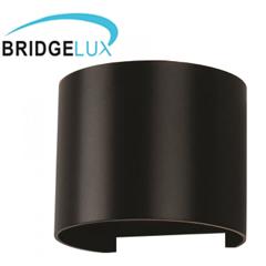Pegasi kültéri lámpatest, fekete, kör (6W) meleg fehér