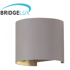Pegasi kültéri lámpatest, szürke, kör (6W) meleg fehér
