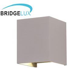 Pegasi kültéri lámpatest, szürke, négyzet (6W) meleg fehér