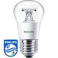 LED lámpa E27 (5.5Watt/200°) Kisgömb, átlátszó - meleg f. Philip
