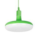 Agumi függeszték zöld + ajándék E27/18 Watt LED izzó