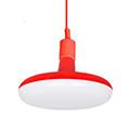 Agumi függeszték piros + ajándék E27/18 Watt LED izzó