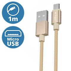 Platinum USB - Micro USB nejlon-szövetkábel (1 méter) arany - USB 2.0