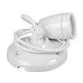 Porcelán függeszték színazonos vezetékkel E27 - fehér