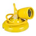 Porcelán függeszték színazonos vezetékkel E27 - sárga