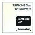 LED panel (600 x 600mm) 29W - természetes fehér - PRO Samsung (5 év!)