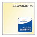 LED panel (600 x 600mm) 45W - meleg fehér - PRO Samsung (5 év!)