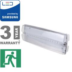 PRO LED vészvilágító (3W - 12 óra töltési idő) hideg fehér, Samsung