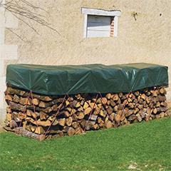 Takaróponyva, Protex Wood fahasáb takaró vízhatlan ponyva 90 g/m2 (1.5x6 méter) zöld