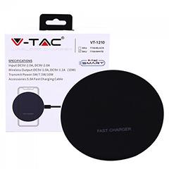 QI Vezeték nélküli telefon töltő (5V/9V) fekete