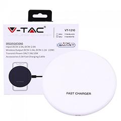 QI Vezeték nélküli telefon töltő (5V/9V) fehér