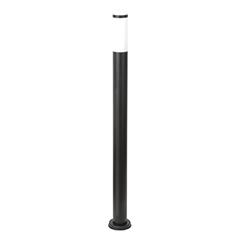 Fekete kültéri álló lámpa (E27) rozsdamentes acél, 80 cm