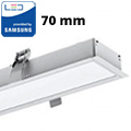 Rec-70 Süllyeszthető irodai LED lámpatest (40W) ezüst ház - 4000K