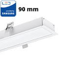 Rec-90 Süllyeszthető irodai LED lámpatest (40W) fehér ház - 4000K