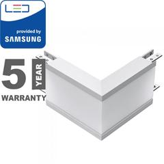 Rec-70 Süllyeszthető irodai LED lámpatesthez L alakú külső sarok csatlakozó (12W) ezüst ház - 4000K