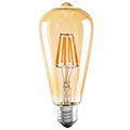 E27 LED izzó Vintage filament (4W/300°) ST64 Körte - meleg fehér
