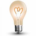 E27 LED izzó Vintage filament (3W/300°) Körte A60 - extra meleg fehér
